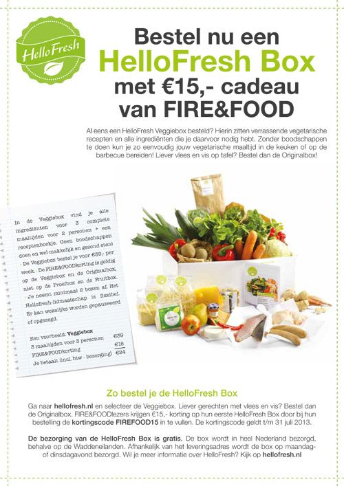 Advertentie HelloFresh | Fire&Food - 210x297