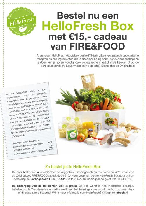 Advertentie HelloFresh | Fire&Food - 210x297