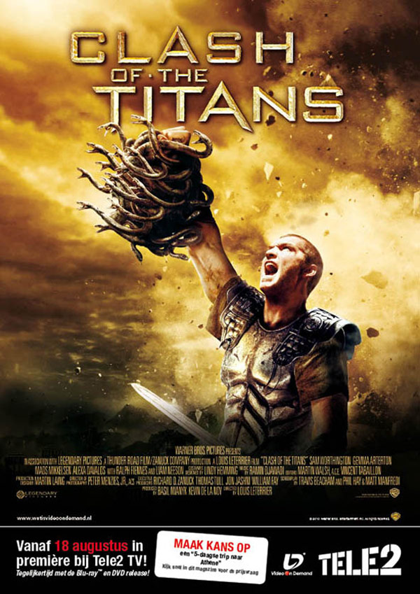 Advertentie Warner Bros | Clash of the Titans t.b.v. Tele2 - 210x297