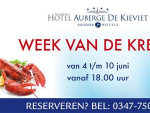 Banner Fletcher Hotel Auberge de Kieviet | Spandoek Week van de kreeft – 4000×2000
