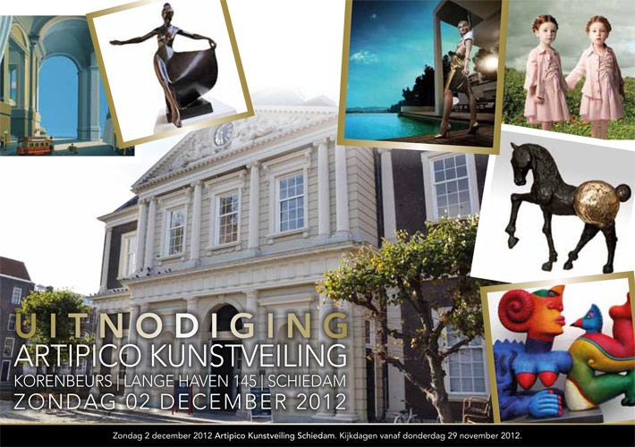 Flyer Artipico | Uitnodiging Kunstveiling - dubbelzijdig 148x210 1