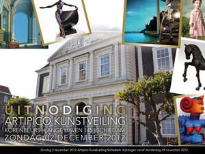 Flyer Artipico | Uitnodiging Kunstveiling – dubbelzijdig 148×210