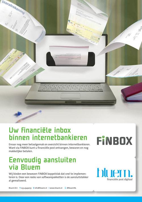 Flyer Bluem | Promotie Bluem & FiNBOX - dubbelzijdig 148x210 voor