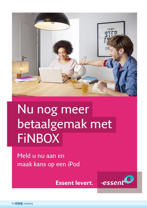 Flyer Bluem | Promotie FiNBOX Essent - dubbelzijdig 148x210 voor