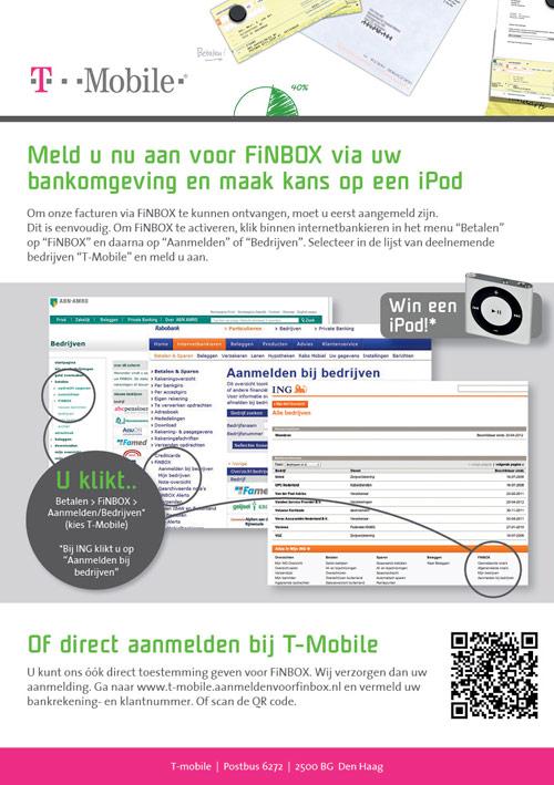 Flyer Bluem | Promotie FiNBOX T-Mobile - dubbelzijdig 148x210 achter