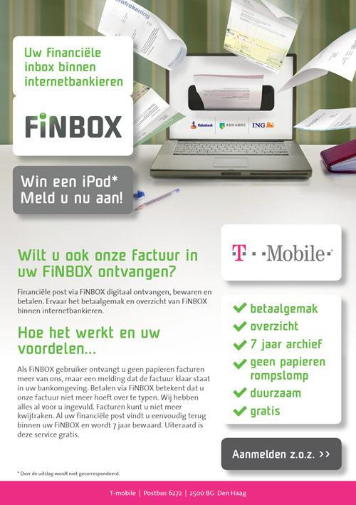 Flyer Bluem | Promotie FiNBOX T-Mobile - dubbelzijdig 148x210 voor