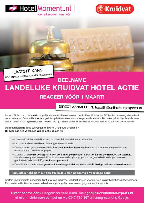 Flyer Fletcher Hotels   Kruitvat Hotel actie