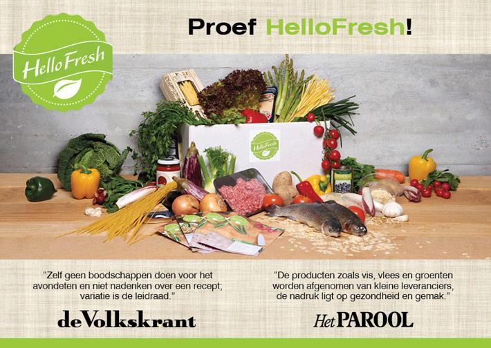 Flyer HelloFresh | Giftcard Delicious - dubbelzijdig 148x210 voor