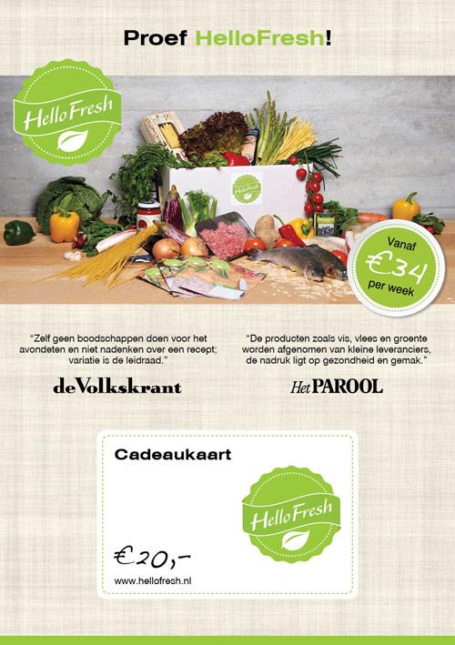 Flyer HelloFresh   Giftcard - dubbelzijdig 148x210 voor