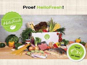 Flyer HelloFresh | Giftcard – dubbelzijdig 148×210