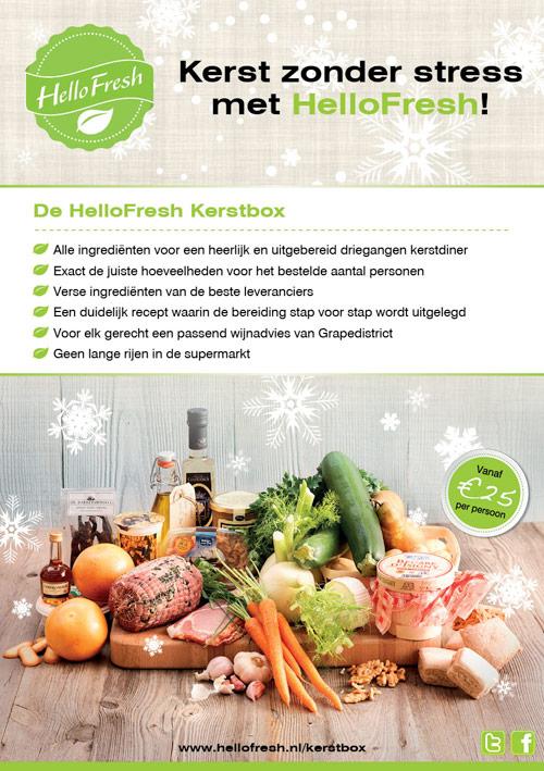 Flyer HelloFresh | Kerst - dubbelzijdig 148x210 voor