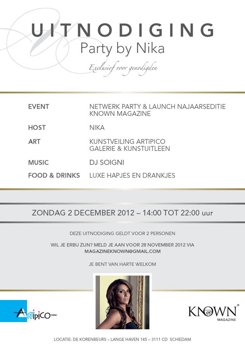 Flyer Known   Uitnodiging event - dubbelzijdig 148x210 achter