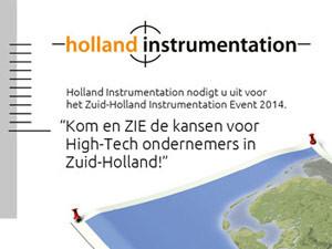 Folder Holland Instrumentation | Uitnodiging ZIE2014 – 148×210