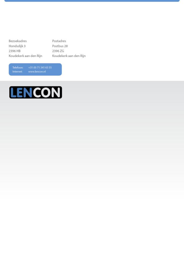 Folder Lencon | Informatie - gevouwen 420x297 4