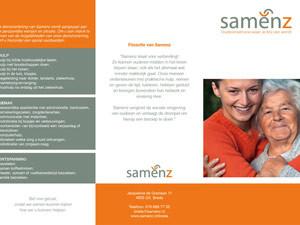 Folder Samenz | Informatie – drieluik 297×210