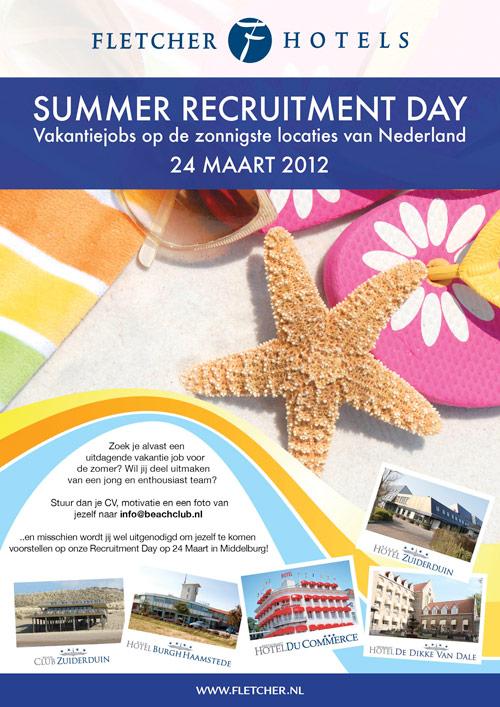 Poster Fletcher Hotels | Recruitment Day - 297x420