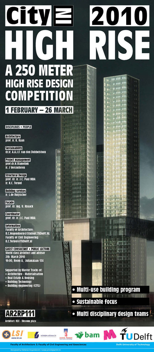 Poster TU Delft | High Rise Design Competition 2010 - 350x800