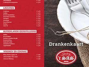 Drankenkaart Gasterij 't Sas